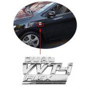 Emblema Letreiro Cromado Dual VVT-i Flex Corolla 2009 à 2014
