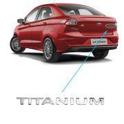 Emblema Letreiro Titanium Ford Ka 2019 Cromado