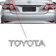 Emblema Letreiro Toyota Corolla 2009 à 2014 Cromado Mala