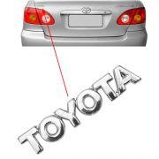 Emblema Letreiro Toyota Mala Corolla 2003 A 2008 Cromado