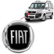 Emblema Preto Fiat Doblo 2008 2009 2010 2011 2012 Dianteiro