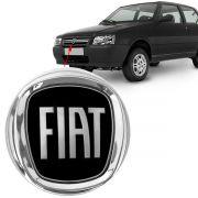 Emblema Preto Fiat Uno 2008 2009 2010 2011 2012 Dianteiro
