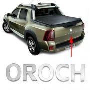 Emblema Traseiro Oroch 2015 à 2017 Letreiro Cromado