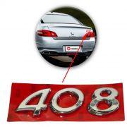 Emblema Traseiro Peugeot 408 2011 2012 2013 2014 2015