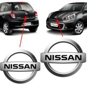 Kit Emblema Dianteiro E Traseiro Nissan March 2012 2013 2014
