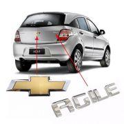 Kit Emblema Traseiro Mala Agile 2009 2010 2011 2012 2013