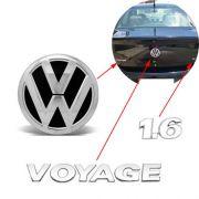 Kit Emblema Traseiro Voyage G5 1.6 2009 2010 2011 2012