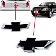 Par Emblema Chevrolet Preto Celta 2012 2013 2014 2015 2016