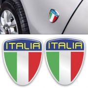 Par Emblema Italia Moldura Cromada Fiat Punto 2012 à 2016