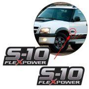 Par Emblema Lateral S10 Flex Power Rodeio 2009 2010 2011