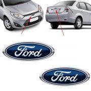 Par Emblema Logo Ford Fiesta 2010 2011 2012 2013 Azul