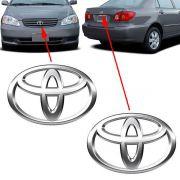 Par Emblema Logo Toyota Corolla 2003 à 2006 2007 Cromado