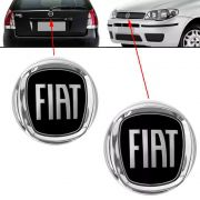 Par Emblema Preto Logo Fiat Palio 2008 2009 2010 2011 2012