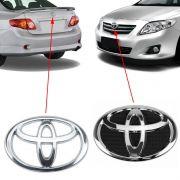 Par Emblema Toyota Corolla 2009 2010 2011 2012 2013 Cromado