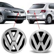 Par Emblema Volkswagen Gol G5 2009 2010 2011 2012 Cromado