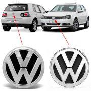 Par Emblema Volkswagen Golf 2008 2009 2010 À 2013 Cromado