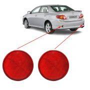 Par Refletor Traseiro Corolla 2008 2009 2010 2011 Vermelho