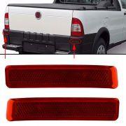 Par Refletor Traseiro Fiat Strada 2004 à 2011 2012 Vermelho