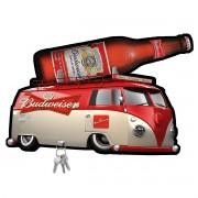Porta Chaves de Mdf Decorativo Budweiser Para Paredes ou Portas