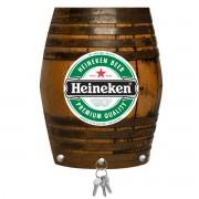 Porta Chaves de Mdf Decorativo Heineken para Parede ou Portas