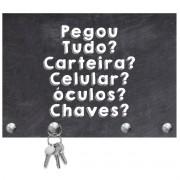 PORTA CHAVES DE MADEIRA DECORATIVO PARA PAREDE OU PORTA