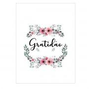 Placa Quadro Decorativo Gratidão Para Paredes ou Portas