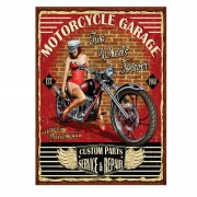 Placa Quadro Decorativo Vintage Motorcycle - 20x28cm