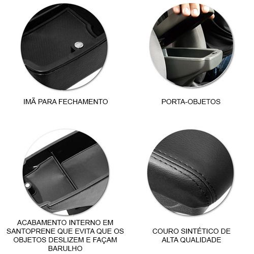 Apoio De Braço Porta Objetos Duster Oroch 2016 17 2018 Couro