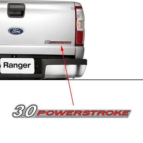 Emblema 3.0 Powerstroke Ford Ranger 2010 2011 2012 Adesivo