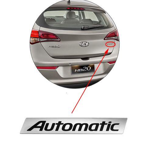 Emblema Automatic Hb20 2012 2013 2014 2015 2016 2017 Mala