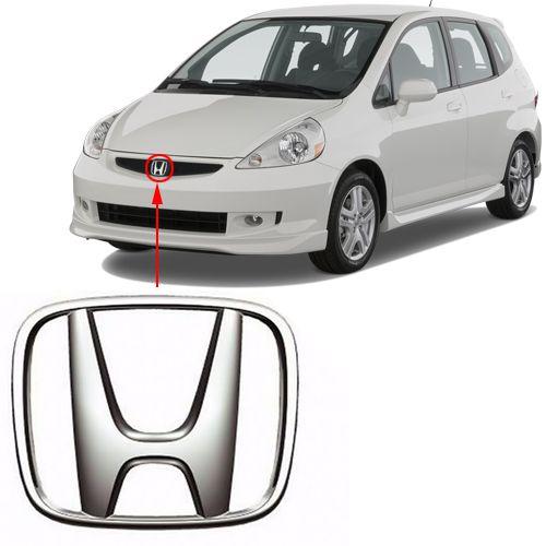 Emblema Da Grade Honda Fit 2004 2005 2006 2007 2008 Cromado
