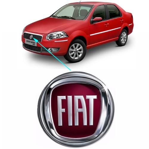 Emblema Dianteiro Fiat Uno Palio Siena Strada Modelo 2008 Grade