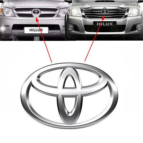 Emblema Dianteiro Grade Hilux Srv Pickup 2005 à 2014 2015