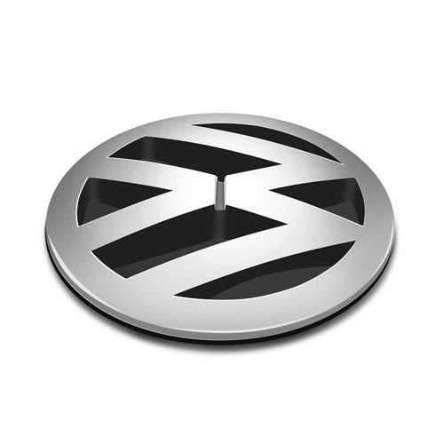 Emblema Dianteiro Volkswagen Kombi 1997 à 2012 2013 Cromado