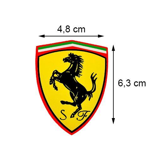 Emblema Escudo Ferrari Lateral Todos Os Carros