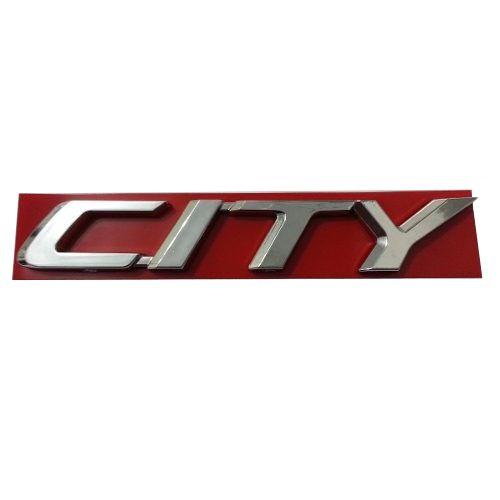 Emblema Letreiro City 2009 à 2013 2014 2015 2016 Cromado