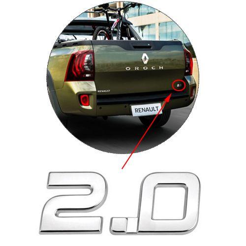 Emblema Letreiro Cromado 2.0 Oroch 2013 à 2016 2017