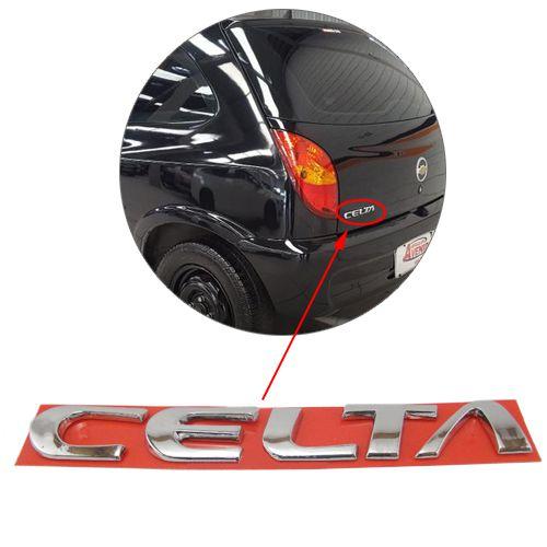 Emblema Letreiro Cromado Celta 2001 2002 2003 2004 2005 2006