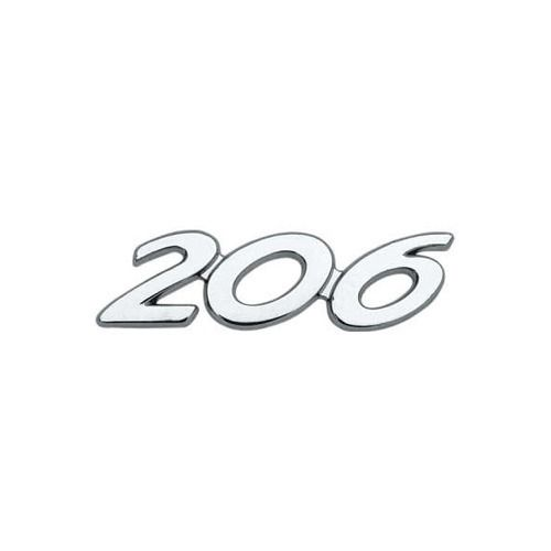 Emblema Letreiro Cromado Peugeot 206 2000 à 2008 2009 2010