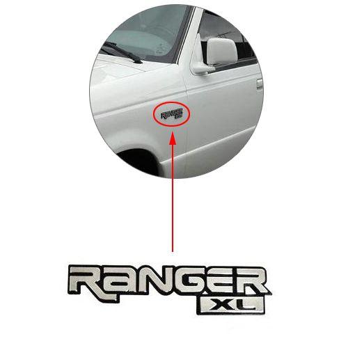 Emblema Letreiro Ranger XL 1994 1995 1996 1997 Cromado