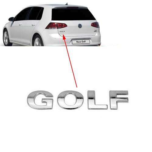 Emblema Letreiro Traseiro Cromado Mala Golf 2015 2016 2017