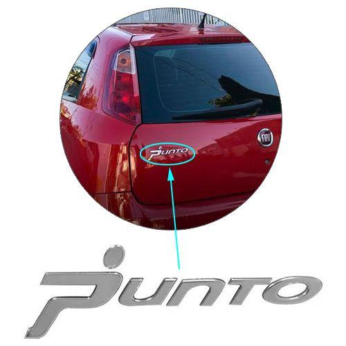 Emblema Traseiro Letreiro Cromado Punto 2008 2009 2010 2011