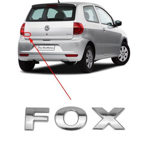 Emblema Traseiro Letreiro Fox 2012 2013 2014 2015 2016 2017
