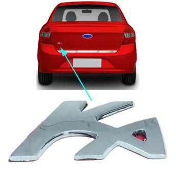 Emblema Traseiro Mala Ford Ka Sedan 2014 2015 à 2018 Cromado