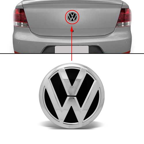 Emblema Mala Volkswagen Voyage G5 2009 2010 2011 2012 Cromado