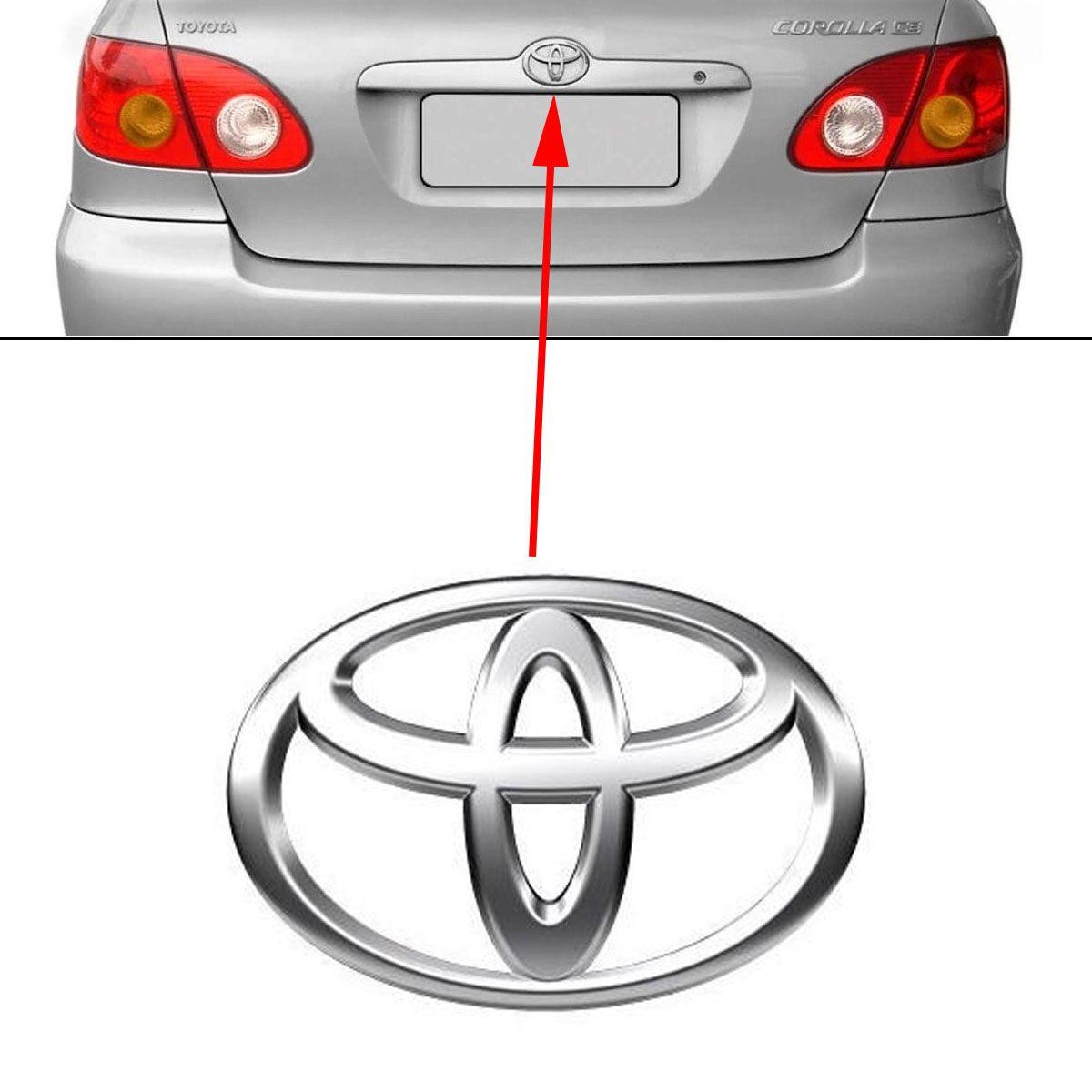 Emblema Traseiro Toyota Corolla 2003 à 2008 Cromado