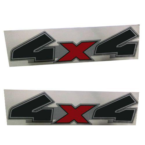 Par Emblema Adesivo Lateral 4x4 Ranger 2008 09 2010 11 2012