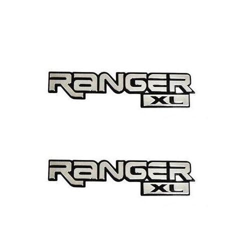 Par Emblema Letreiro Ranger XL 1994 1995 1996 1997 Cromado