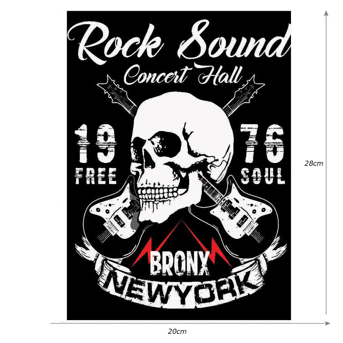 Placa Quadro Decorativo Rock Sound Parede ou Portas 20x28cm