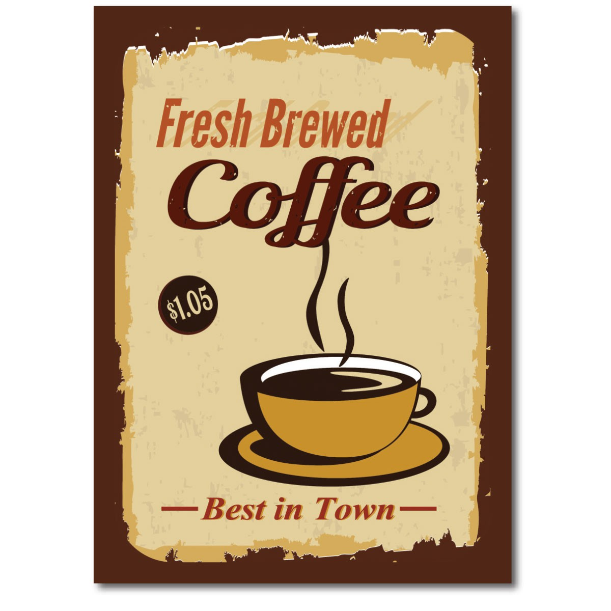 Placa Quadro Decorativo Retro Café Coffee 20x28cm